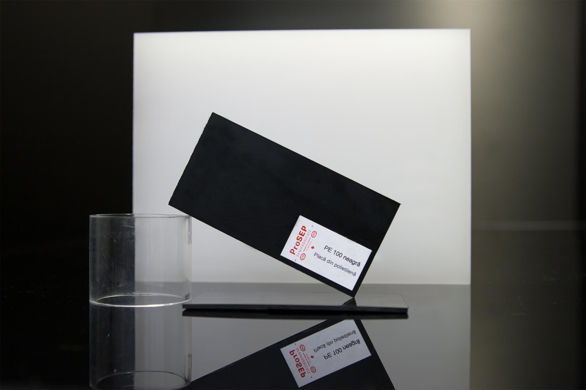 PE 100/PE-HD neagră – plăci din polietilenă