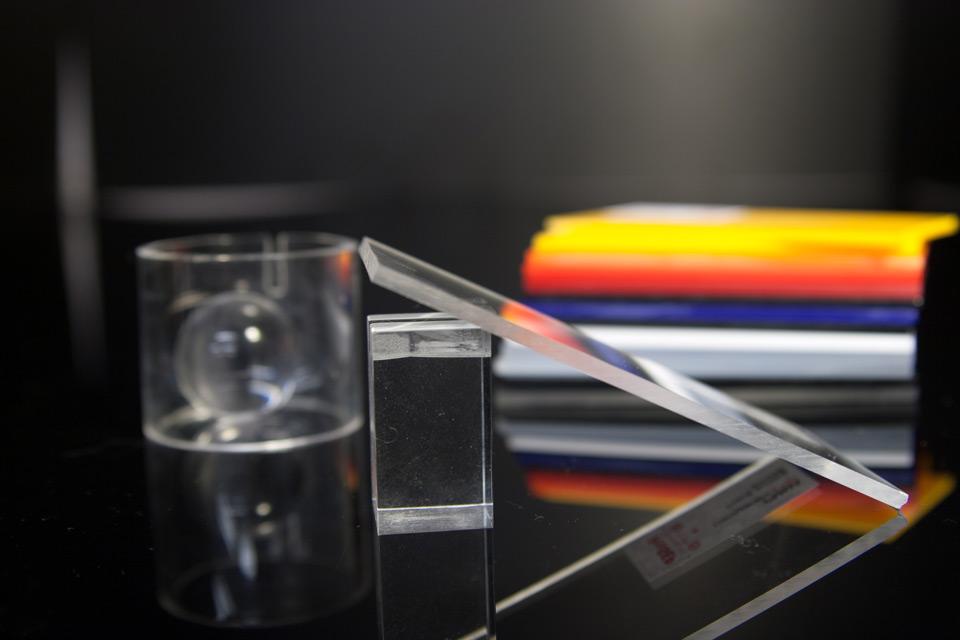 PMMA plazcast transparent placa acrilica turnata