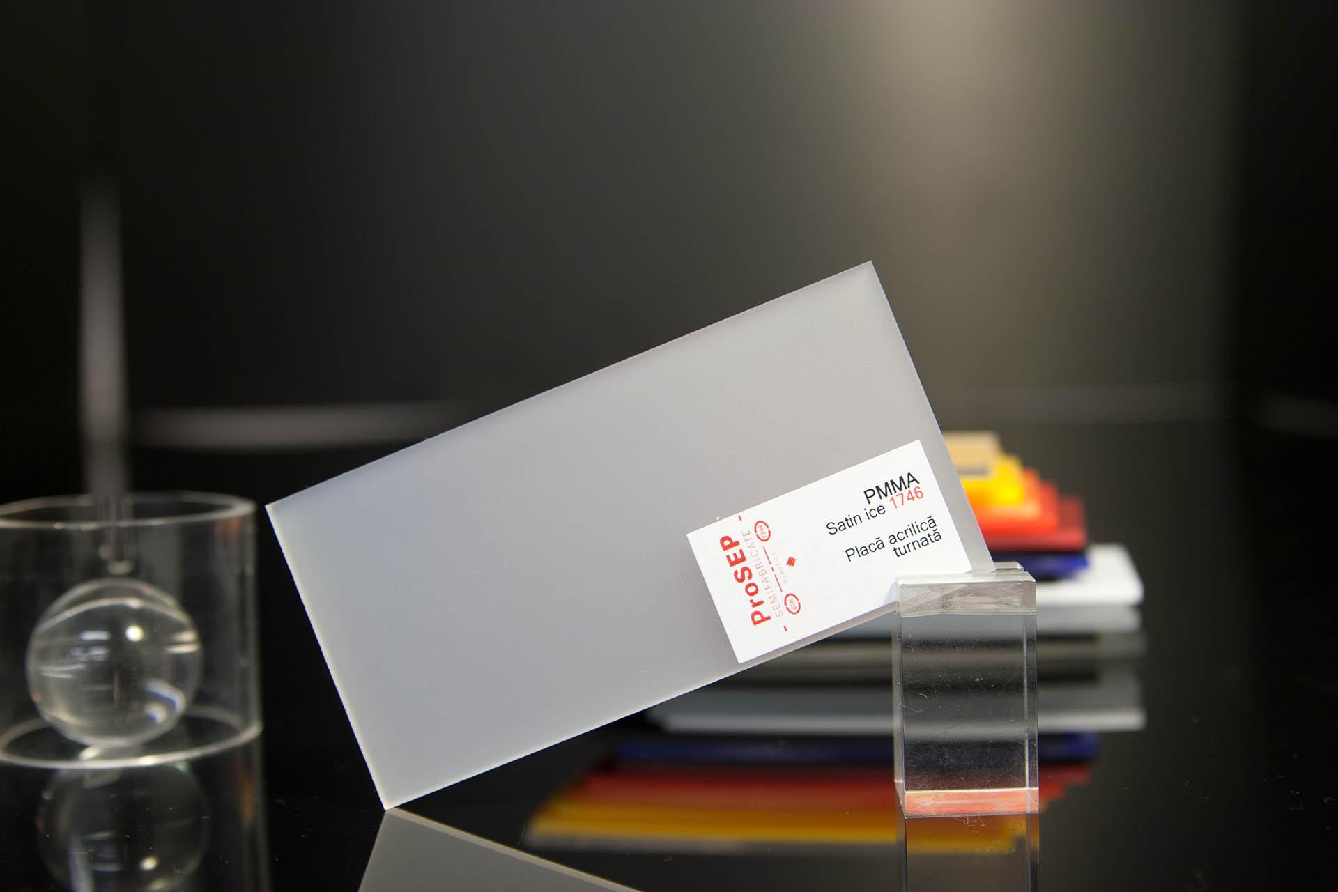 PMMA Plazcast satinat  – plăci acrilice turnate