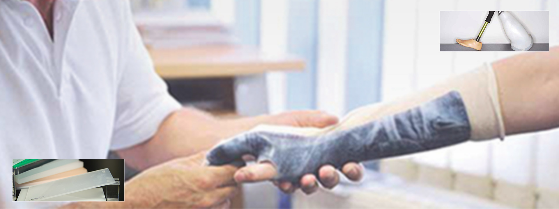 Semi-finished products for orthoses and prostheses